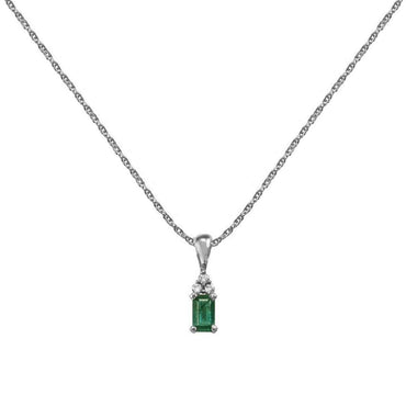 Octagon Emerald Necklace