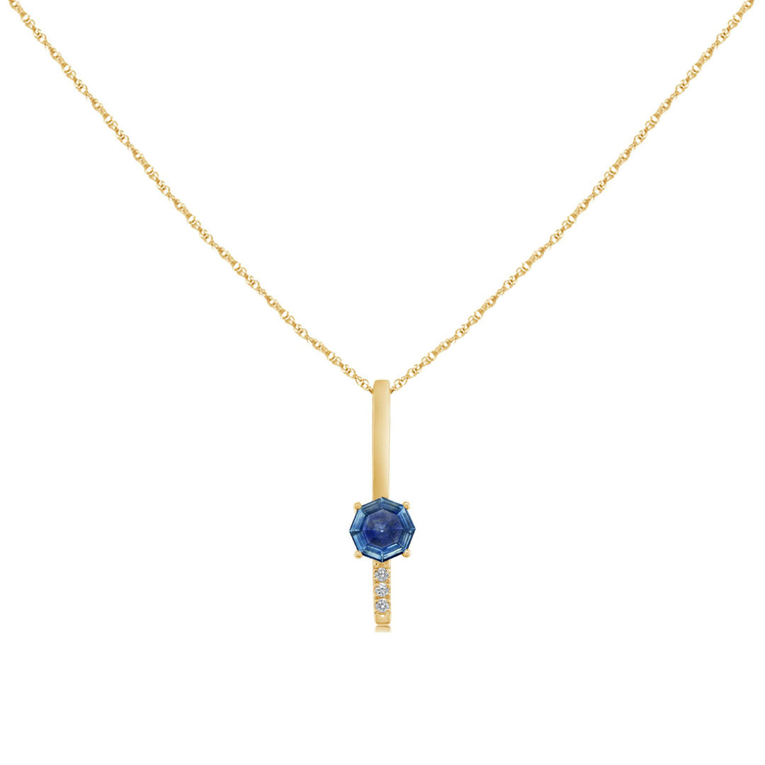 Octagon Montana Sapphire Necklace
