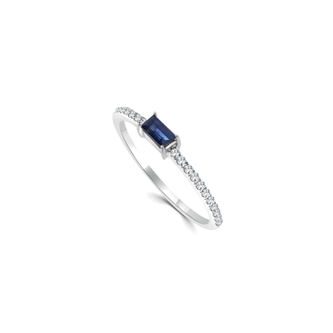 Jasmine Sapphire and Diamond Ring