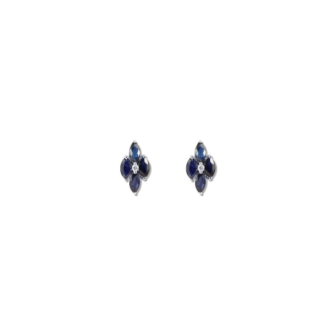 Pavla Blue Sapphire Stud Earrings