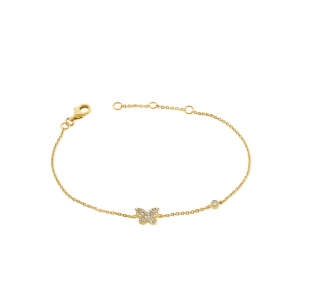 Kali Diamond Butterfly Bracelet