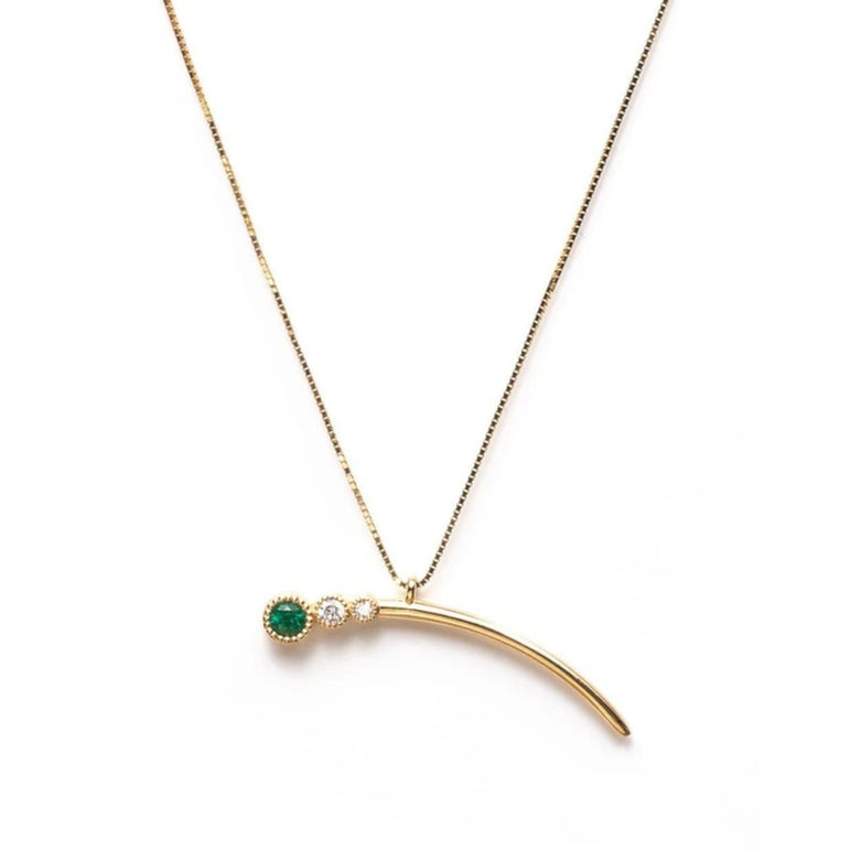 Shooting Emerald Star Necklace