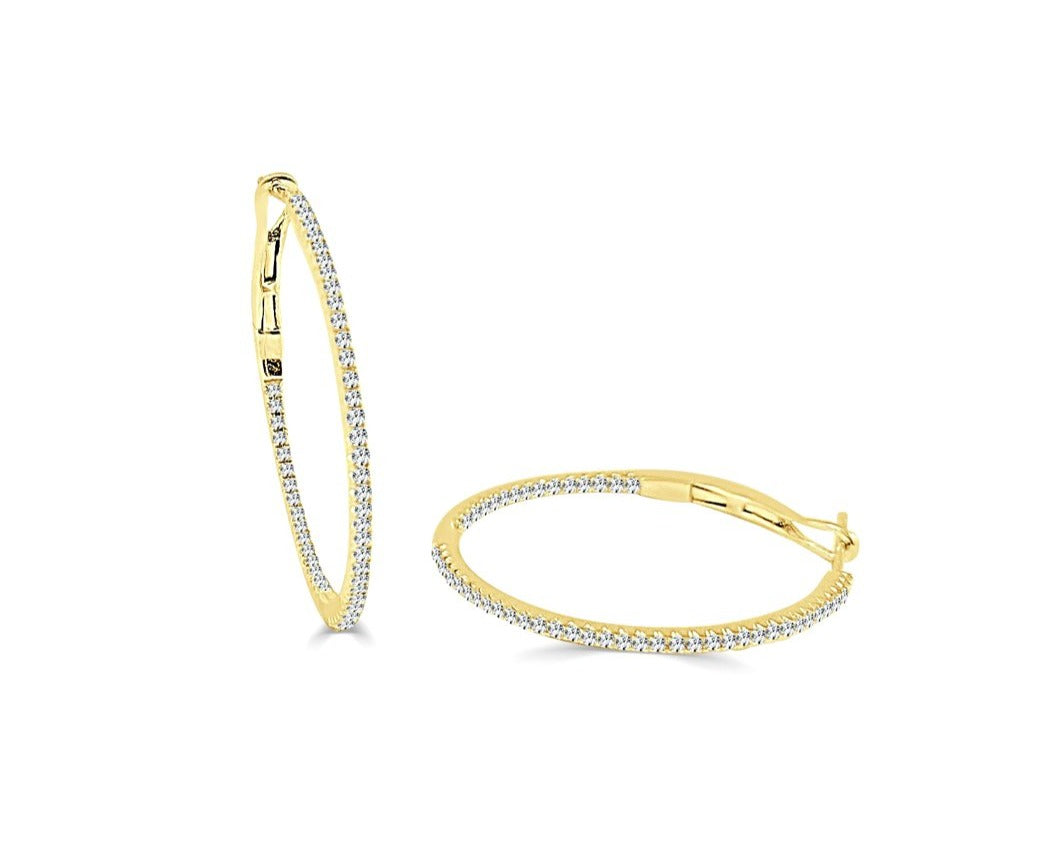 Tori Skinny Hoop Earrings