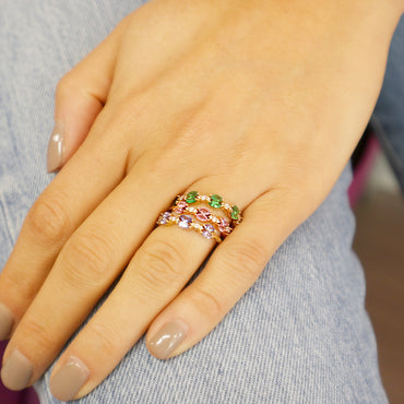 Rima Pink Sapphire Ring