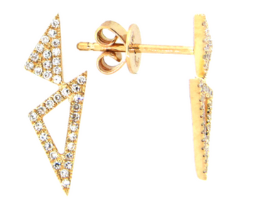Trinity Open Diamond Earrings
