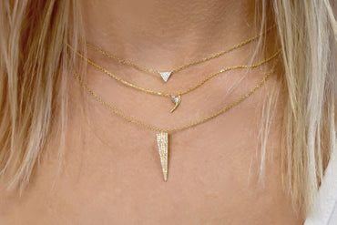 Sinking Diamond Dirk Necklace