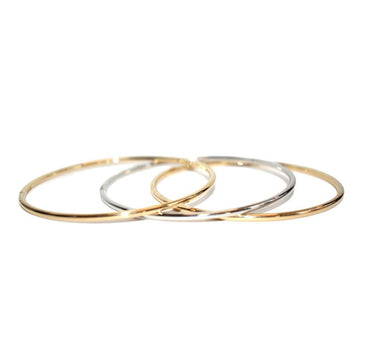Evie Yellow Gold Bangle