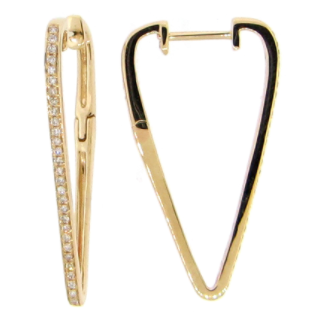 Jenna Diamond Hoop Earrings