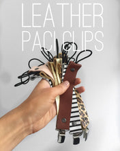 Load image into Gallery viewer, Leather Baby Paci Clips // Paci holder // Pacifier Clip // leather //