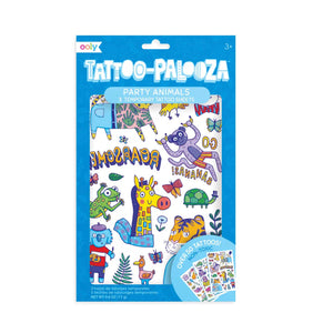 Party Animals - Temporary TATTOOS (Dark Blue)
