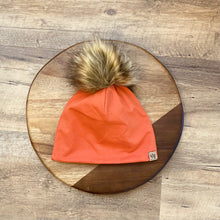 Load image into Gallery viewer, Pumpkin Rust Pom Hat