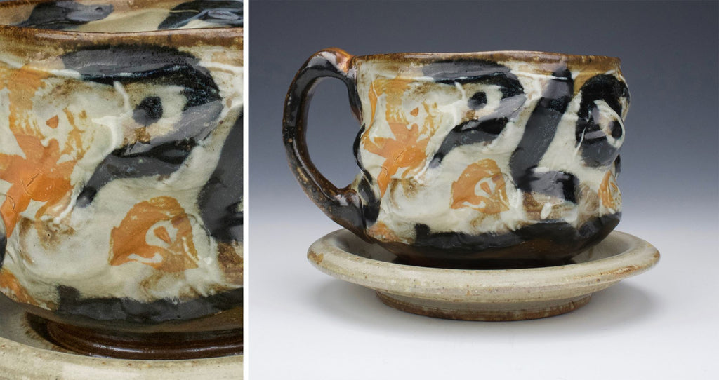 "Bobby Leo Veresan, ""Mug with a Face on a Saucer"", 2018"