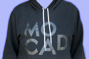 MOCAD Black on Black Hoodie (Distressed)