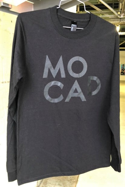 MOCAD Black Long Sleeved Shirt with Black Logo
