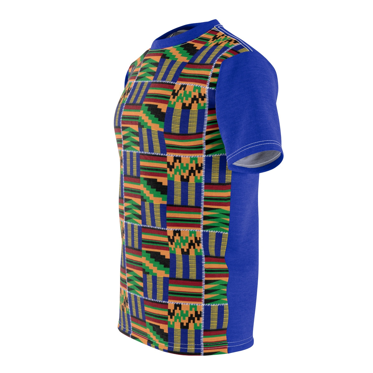 Akwaaba Kente T-shirt Blue - Mens