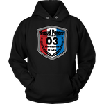Proud Parent of 3 - Unisex Hoodie - Red White Blue Pattern