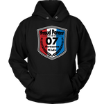 Proud Parent of 7 - Unisex Hoodie - Red White Blue Pattern