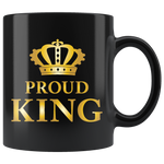 Proud King - Black Mug (gold)