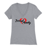 Proud Aunty Love - V-Neck - BlackFont