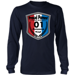 Proud Parent of 1 - Unisex Long Sleeve Shirt - Red White Blue Pattern