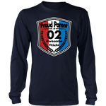 Proud Parent of 2 - Unisex Long Sleeve Shirt - Red White Blue Pattern