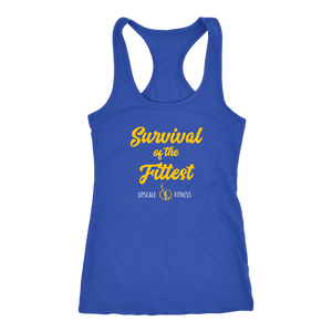 Survival of the Fittest by Upscale Fitness - Ladies - Racerback Tank