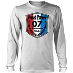Proud Parent of 7- Unisex Long Sleeve Shirt - Red White Blue Pattern