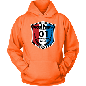 Proud Parent of 1 - Unisex Hoodie - Red White Blue Pattern