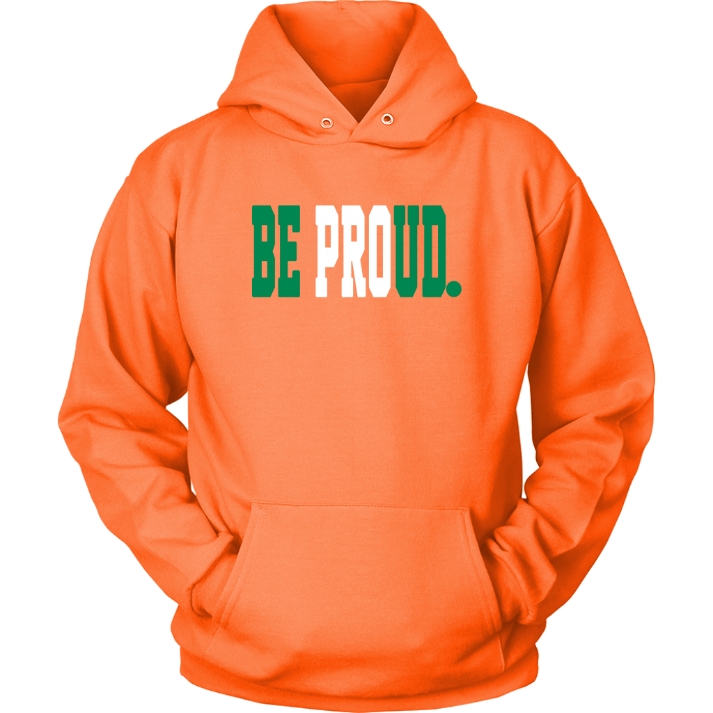 Be Proud - Unisex Hoodie - Green White Green