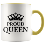 Proud Queen - Accent Mug (black)