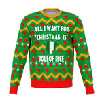 Ugly Sweatshirt -All I want for Christmas is Nigerian Jollof Rice - 2