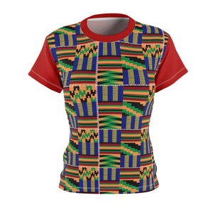 Akwaaba Kente T-Shirt - Ladies