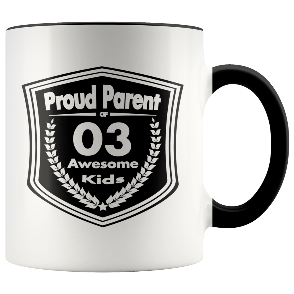 Proud Parent of 3 Awesome Kids - Mug