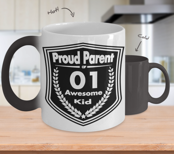Proud Parent of 1 Awesome Kid Mug - Color Changing