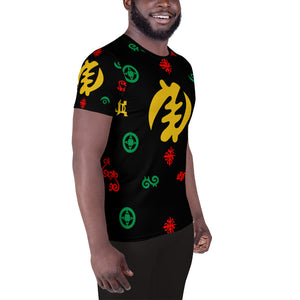 Adinkra Symbols I - Men's Athletic T-shirt
