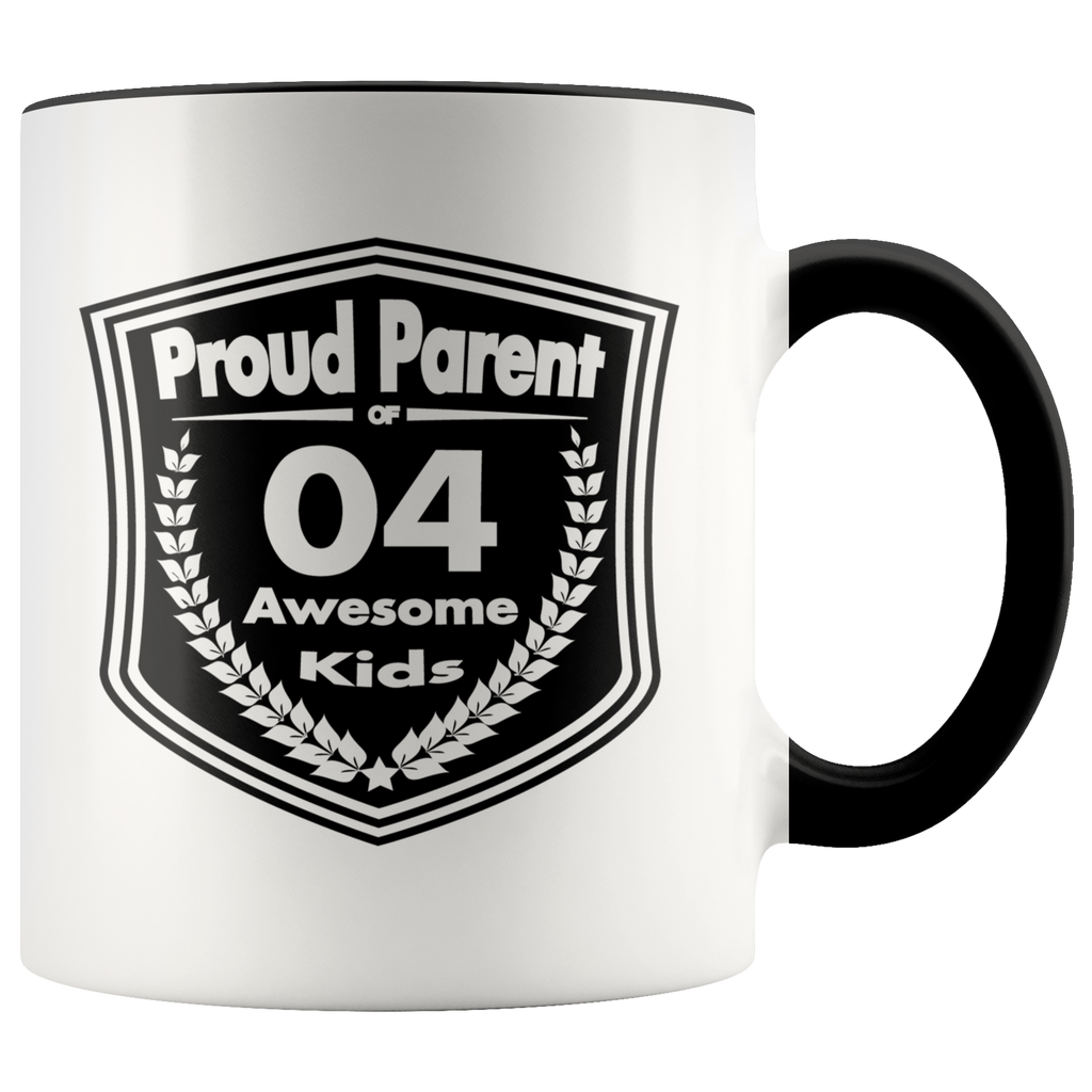 Proud Parent of 4 Awesome Kids - Mug