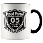 Proud Parent of 5 Awesome Kids - Mug