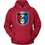 Proud Parent of 6 - Unisex Hoodie - Red White Blue Pattern