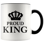 Proud King - Accent Mug (black)