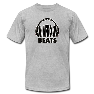 Afrobeats -Headphones Unisex T-Shirt - BW - heather gray