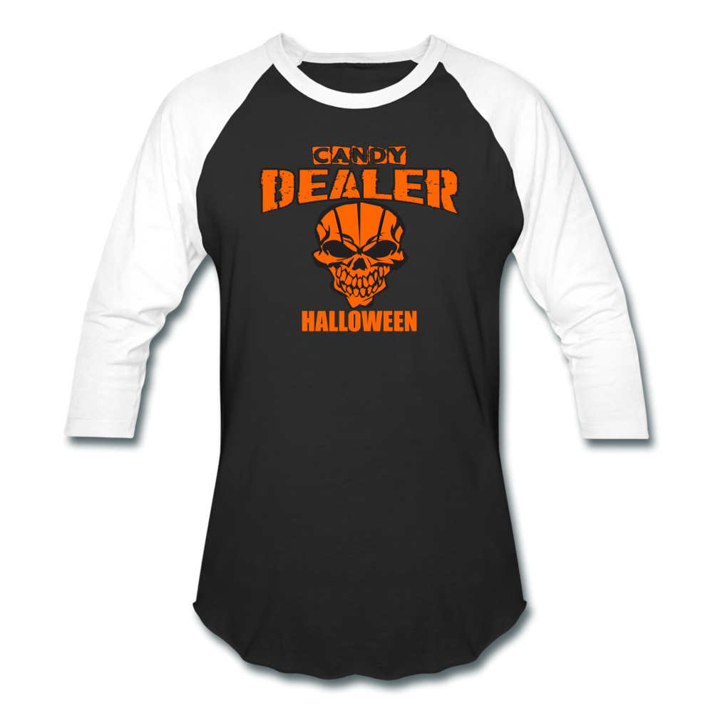Halloween Candy Dealer - Baseball T-Shirt - black/white