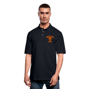 Halloween - Candy Dealer - Men's Pique Polo Shirt - midnight navy