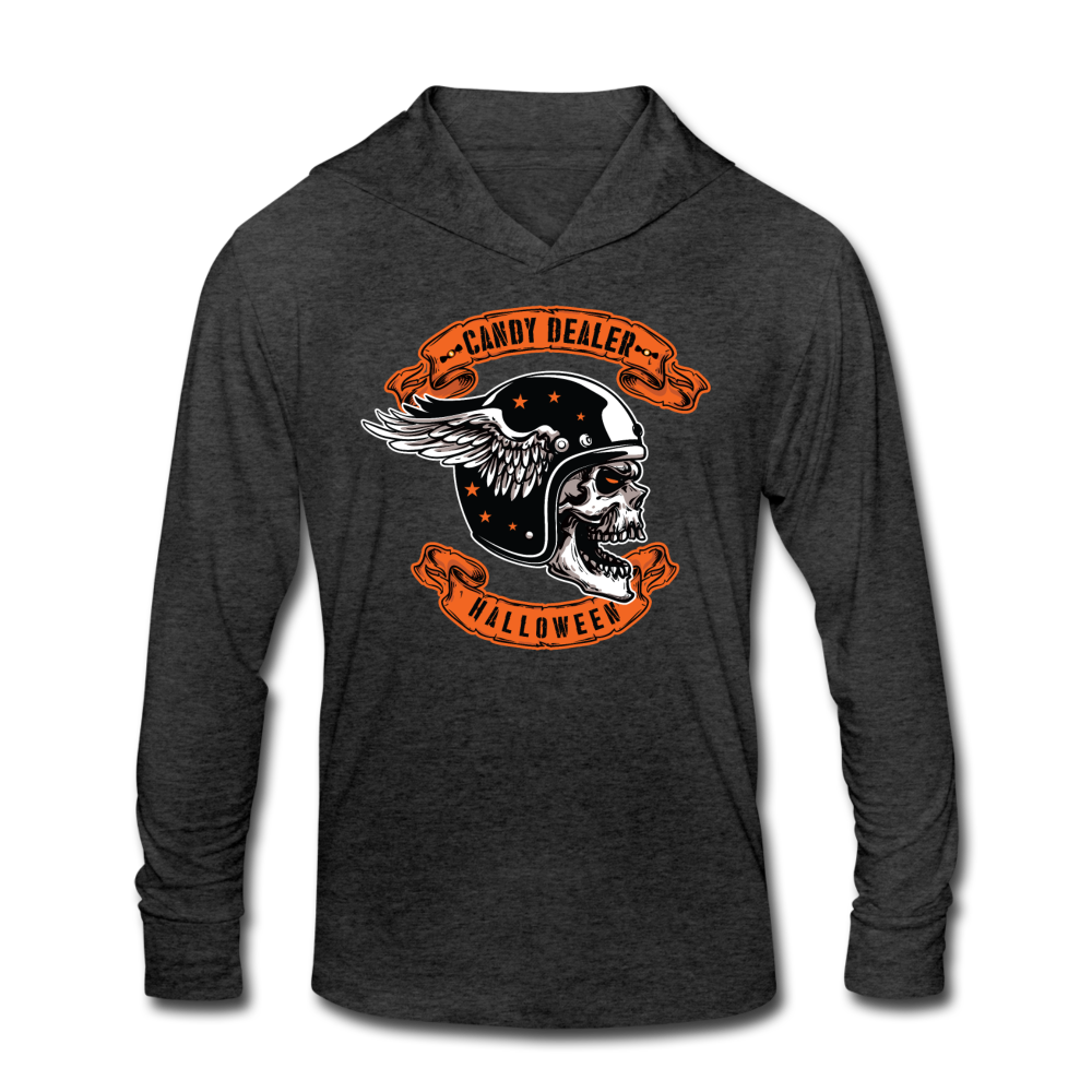 Halloween Candy Dealer - Unisex Tri-Blend Hoodie Shirt - heather black