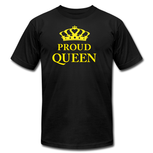 Proud Queen Unisex Jersey T-Shirt - Yellow - black
