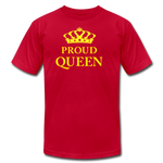 Proud Queen Unisex Jersey T-Shirt - Yellow - red