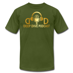 Deep Dive Podcast - Gold - Unisex T-shirt - olive