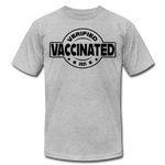 Vaccinated and Verified (Black) - Unisex - heather gray