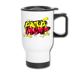 Proud Mom - Graffiti Style Mug - white