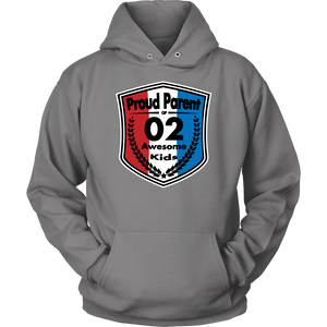 Proud Parent of 2 - Unisex Hoodie - Red White Blue Pattern