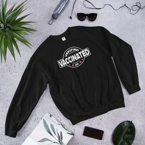 Vaccinated - Verified - 2021 - Unisex Sweatshirt